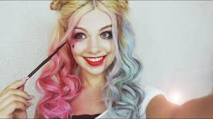 harley quinn squad makeup and hair tutorial you