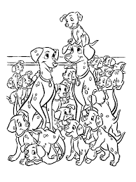 the family of dalmatians coloring page