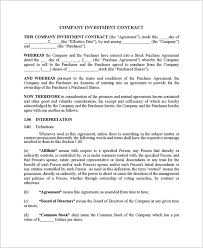 Investment Agreement Templates 10 Business Investment Agreement Examples Pdf Examples