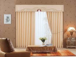 Decorations:Lavish Cream Curtain In Single Glass Window Luxurious Room With  Glass Windows Completed With