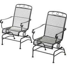 rocker patio chairs. steel mesh spring rocking chairs - set of 2 mosaic http://www. rocker patio t