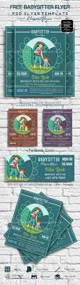 Babysitting Flyer Template Babysitter Free Flyer Psd Template By Elegantflyer