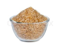 brown rice in a bowl. Perfect Bowl For Brown Rice In A Bowl Colourbox
