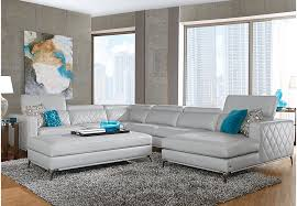 Sofia Vergara Sorrento Platinum 4 Pc Sectional  Living Room Sets Beige Sofia Vergara Furniture F95