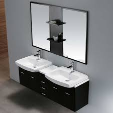 vigo industries vg09001104k 59 inch modern double bowl wall mount vanity with large double doors center sliding drawers 2 white ceramic sinkounting
