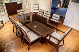 art dining room furniture. Custom Art Deco Mahogany Dining Table With Colina Chairs Modern-dining- Room Furniture