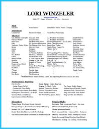 Dance Resume Example