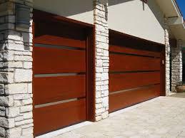 modern metal garage door. Contemporary Modern Wood Garage Door With Steel Inlays Metal