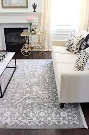 grey oushak turkish rug wayfair unique loom arcadia light rug living room vintage rug brass bar cart living grey rugs e47 rugs