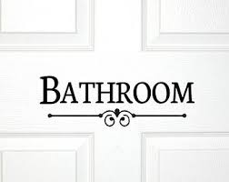 Decorative Bathroom Door Signs Bathroom Door Or Wall Decal Decorative Bath Room Sign Powder 1