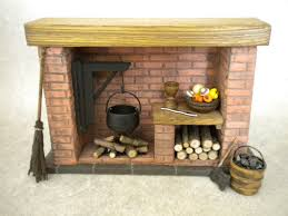 Kitchen Fireplace For Cooking Doll House Stone Fireplace Cottage Tudor Medieval Cooking