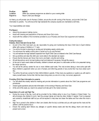 Nanny Job Description Resume Free Resume Templates 2018