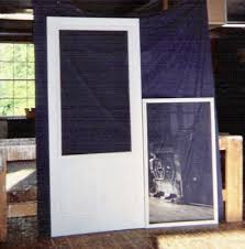 custom made built wood storm and screen