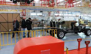 economic a from hungary romania serbia and macedonia visit the automotive plant of the bulgarian automaker litex motors near lovech city