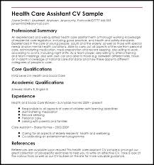 Healthcare Resume Samples – Districte15.info