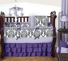 black crib bedding set luxury purple lavender black white damask polka dot baby girls crib bedding black crib bedding