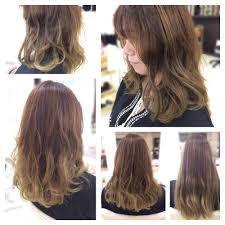 ヘアスタイルロングからのセミロンググラデーションカラー Hair