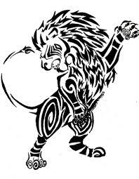 Tatuaggio Tribale Che Raffigura Il Leone Il Significato