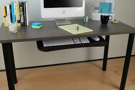 desk with keyboard tray design