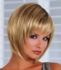 short straight hairstyles for round faces