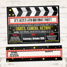 Movie Invitation Template Free Movie Night Invitations Template Yourweek 24f24eca24e 16