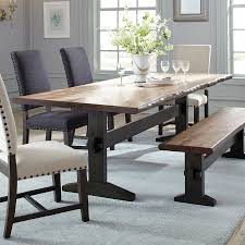 scott living natural honey wood live edge dining table
