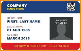 96 Employee Card Template Word Employee Card Template Word Id