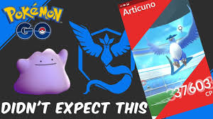 Pokemon GO | SOLO RAID Ditto VS. Articuno | Then Something Unexpected  Happens - YouTube