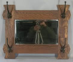 Arts And Crafts Coat Rack Antique Arts Crafts Oak Mirrored Coat Rack C 100 Mission Style 64