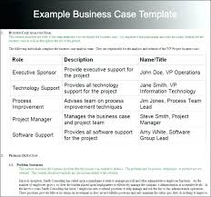 Business Case Template Relevant Example Format Word Project ...