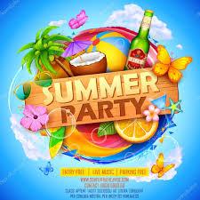 夏 Partyl ポスター デザイン ストックベクター Vectomart 109504282