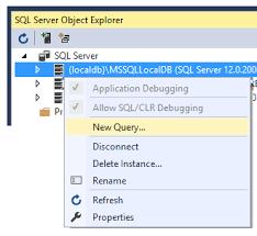 install sql server sample databases sql server object explorer new query