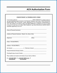 Direct Deposit Template Free Vendor Ach Authorization Formte Sample Direct Deposit Form