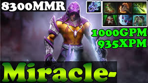 dota 2 miracle 8300mmr plays anti mage 1000gpm 935xpm full