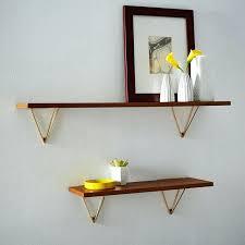 gold shelf brackets in mid century shelving west elm ideas modern floating shelves
