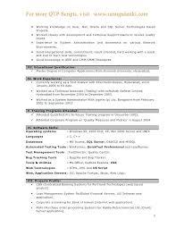Sample Resume For Software Testing Freshers Software Testing Resume