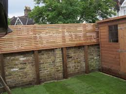 garden screening on wall