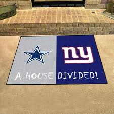 dallas cowboy area rugs cowboys new giants house divided rug mat 8x10
