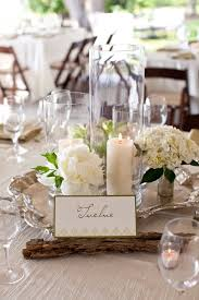 wedding table decor silver vases