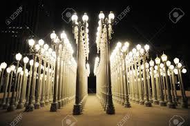 urban light at los angeles museum of art stock photo 12385934