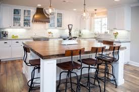 view in gallery farmhouse kitchen design with industrial chairs
