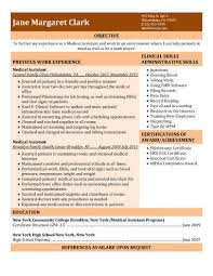 Medical Assistant Resume Skills Fascinating 28 Free Medical Assistant Resume Templates