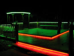 funky outdoor lighting. LED Deck Lighting With RGB Flexible Strips Under Railings And Platforms. Funky Outdoor I