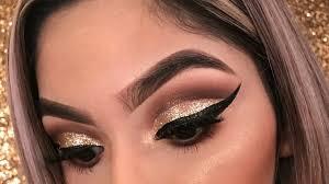 new years eve gold glitter eyeshadow tutorial