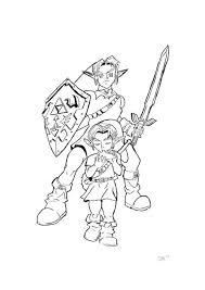 Printable colouring book for kids 1. Legend Zelda Coloring Drone Fest