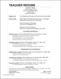 Resume Template With Objective Fresher Teacher Resume Ideas Collection Resume Fresher Teacher