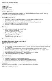 patient care technician sample resume resume sample patient care technician  resume with no experience