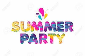 summer party clipart. Brilliant Summer Banque Du0027images  Citation Multicolore De Fte Du0027t Design Typographique  En Style Coupure Papier 3D Vnement Vacances Amusant Illustration  Intended Summer Party Clipart F