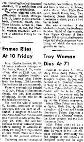 Bertha Eames obituary - Newspapers.com