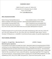 Network Engineer Resume Enchanting 28 Network Engineer Resume Templates PSD DOC PDF Free